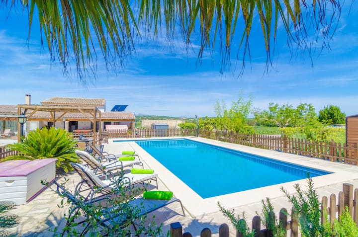 SON VANRELL - Villa with private pool in MONTUÏRI. Free WiFi