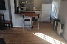 Bar and rustic pine wood floors
