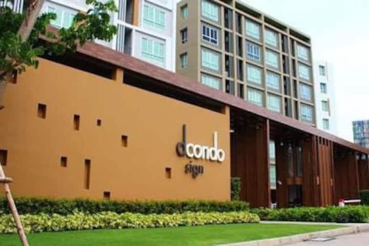 Dcondo,3mins to central Festival , 五星级酒店设备+无边泳池@清迈