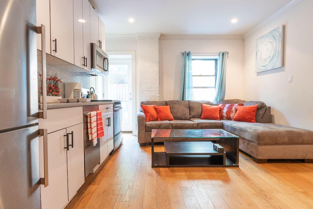 Brand new Kitchen plus Living area