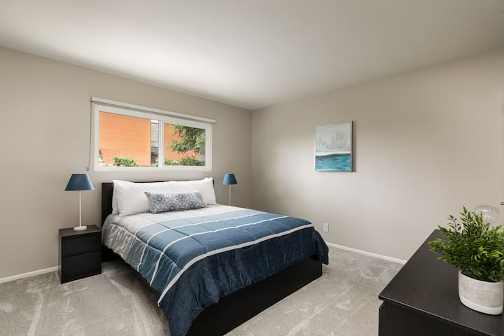 Secondary bedroom with blackout shades