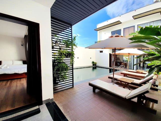 ★ POOL 3BR Villa ★ Nearby BEACH ★ Daily Clean ★