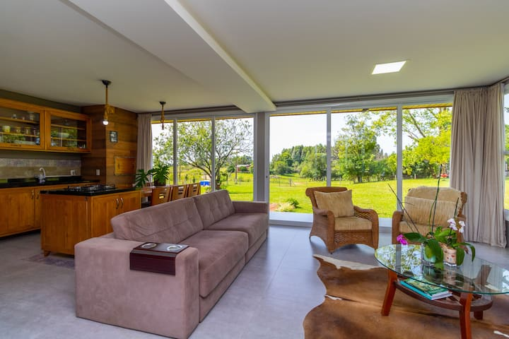 Casa de campo Pulador🍁 seu lugar junto a natureza