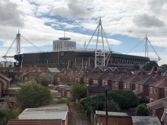 View of the Stadium from the bedroom