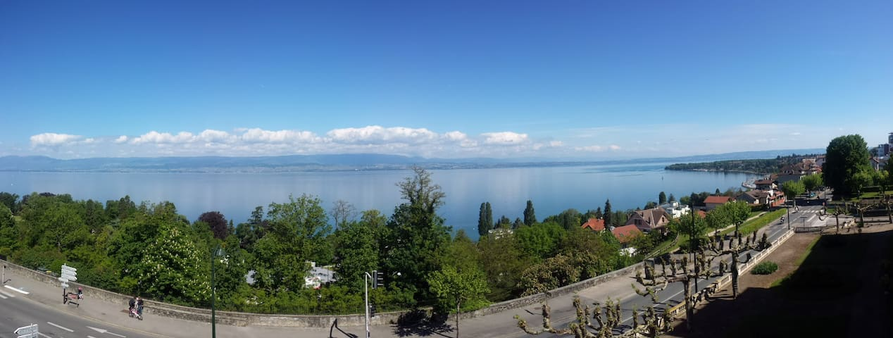 Spacious flat with a stunning view on the lake - Thonon-les-Bains - Apartament