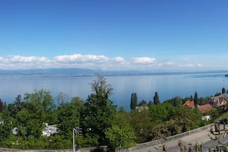 Spacious flat with a stunning view on the lake - Thonon-les-Bains - Lejlighed