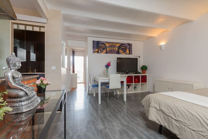 nice penthouse ramblas/Montjuic