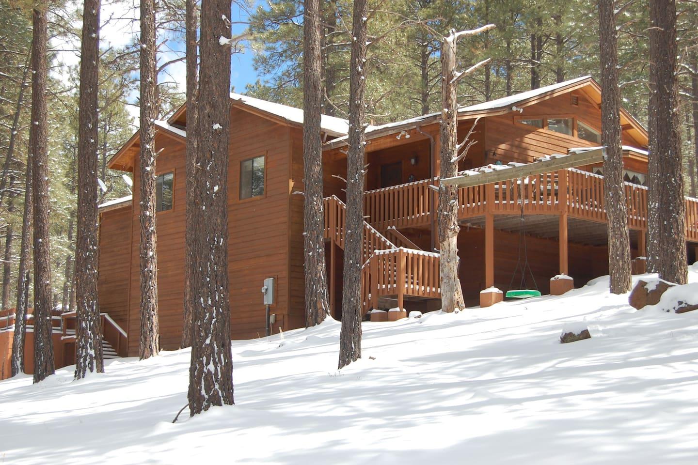 cabin on in family az flagstaff lake sedona als rental rentals cabins