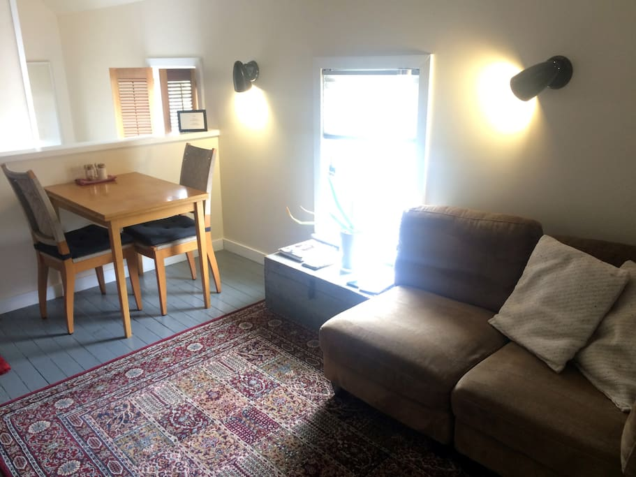 Dining and den area at the top of stairs
