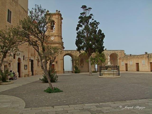 Mellieha Church Courtyard