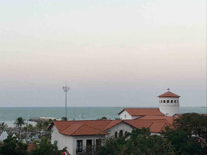 Apartamento vista mar e localização privilegiada.