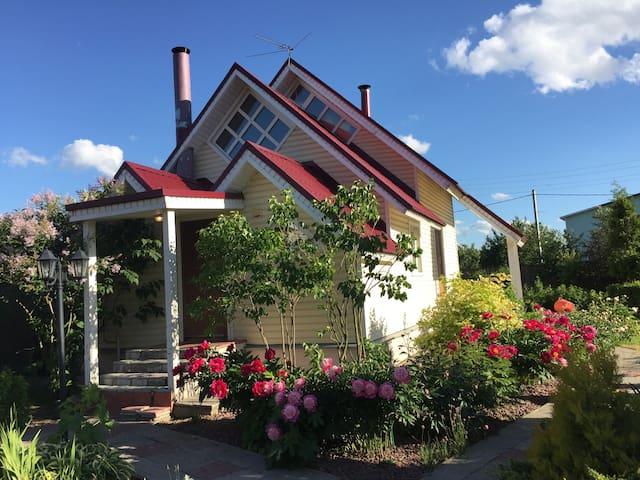 Дом с сауной и красивой беседкой Новорязанка 27 км