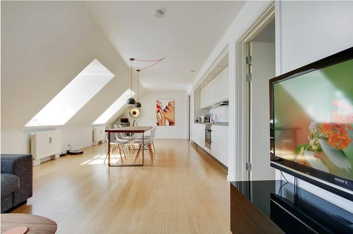 Delux Penthouse in Copenhagen, Østerbro