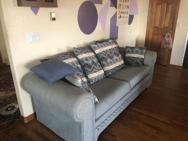 The open space sofa bed.