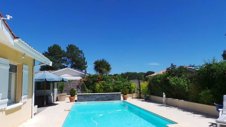 Maison 6 personnes avec piscine bassin d'Arcachon