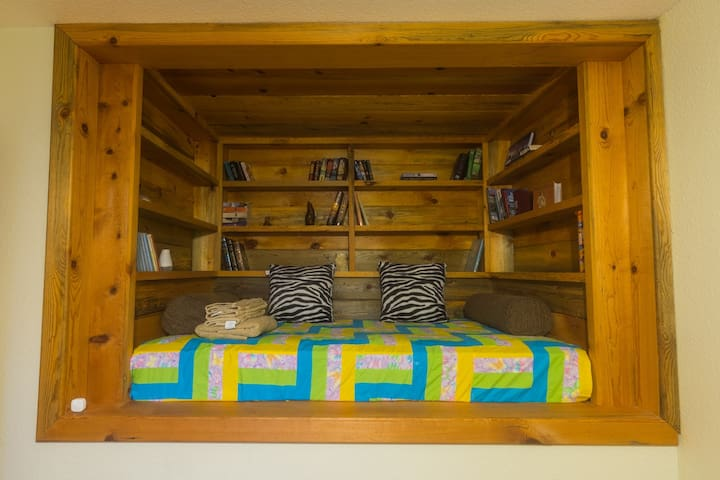 The Single Bed Book Shelf Cubby