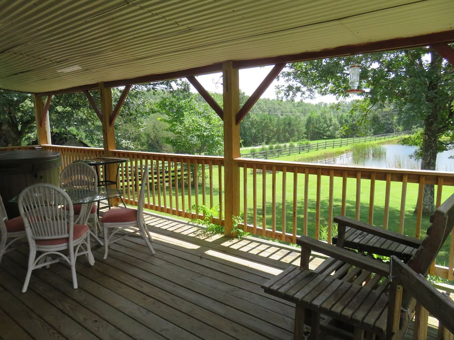 You will spend hours relaxing on the covered back deck