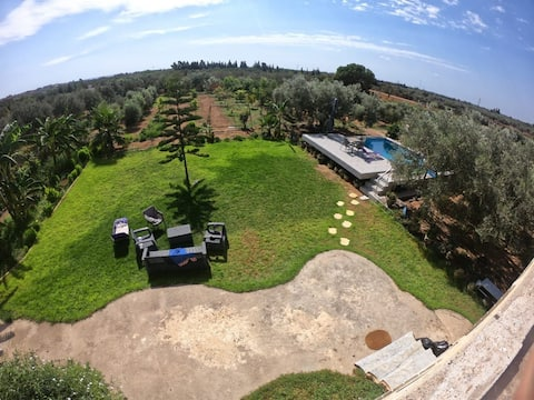 amazing 2-bedroom farm villa with pool and plenty of outdoor space