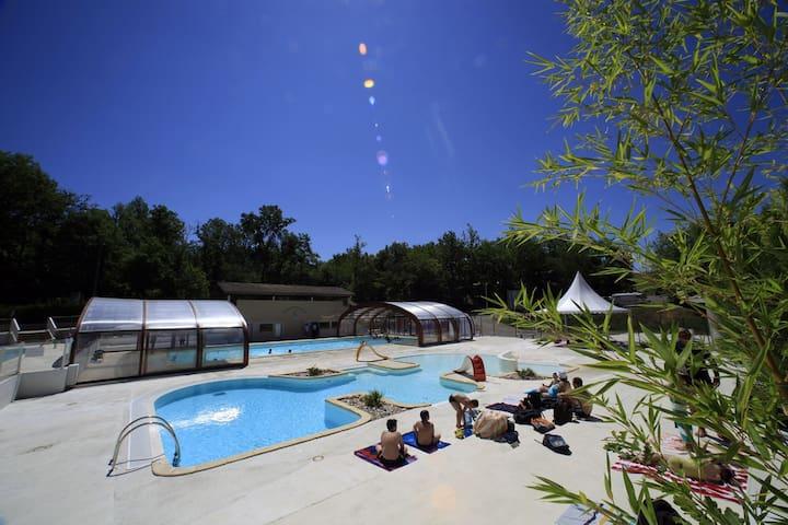 Chalets 4 personnes avec piscine proche Montauban - Monclar-de-Quercy - Alpstuga