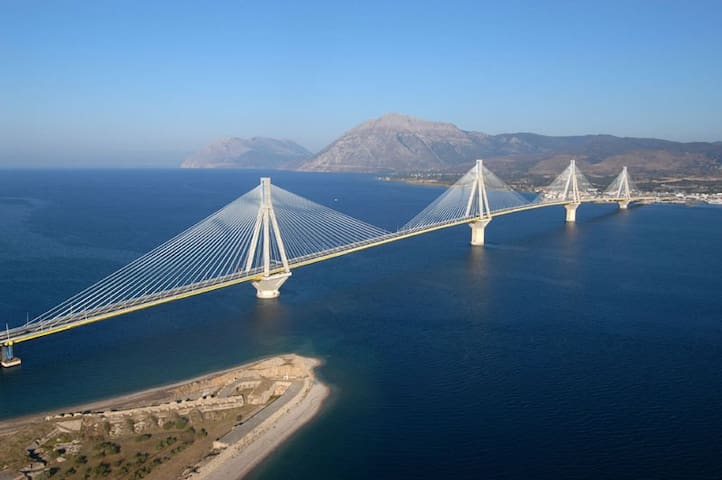 Rio–Antirrio Bridge is the world's longest multi-span cable-stayed bridge