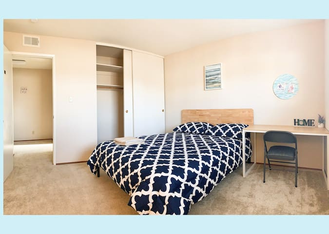 Cozy Clean private room.20 central Bay May'smile