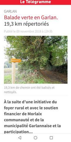 Sur le chemin du Tro Breizh  Garlan /Lanmeur