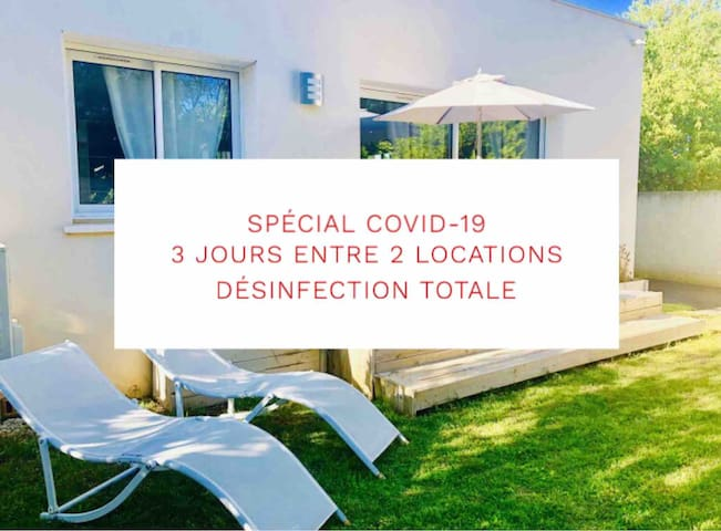 LE COTTAGE 4P CANAL DU MIDI-BEACH-english speaking