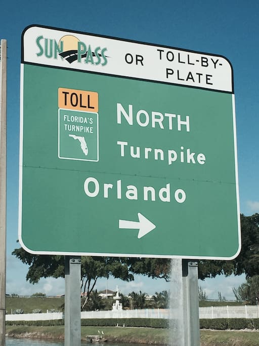5 minutes from Florida's turnpike