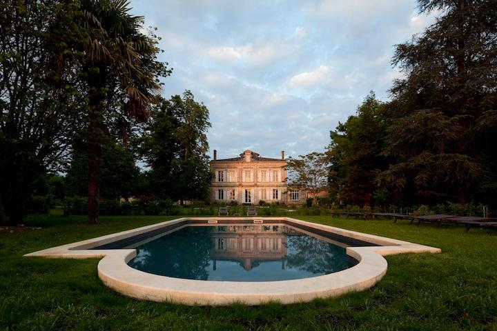 Château Le Vert, autentiek landhuis met uitzicht