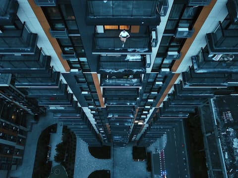 """""""Das Dach von Kiew"""" (Panoramablick auf den 23. Stock)"""