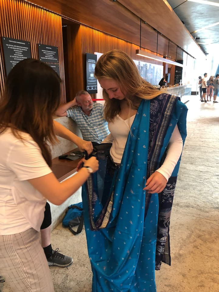 Try donning a sari