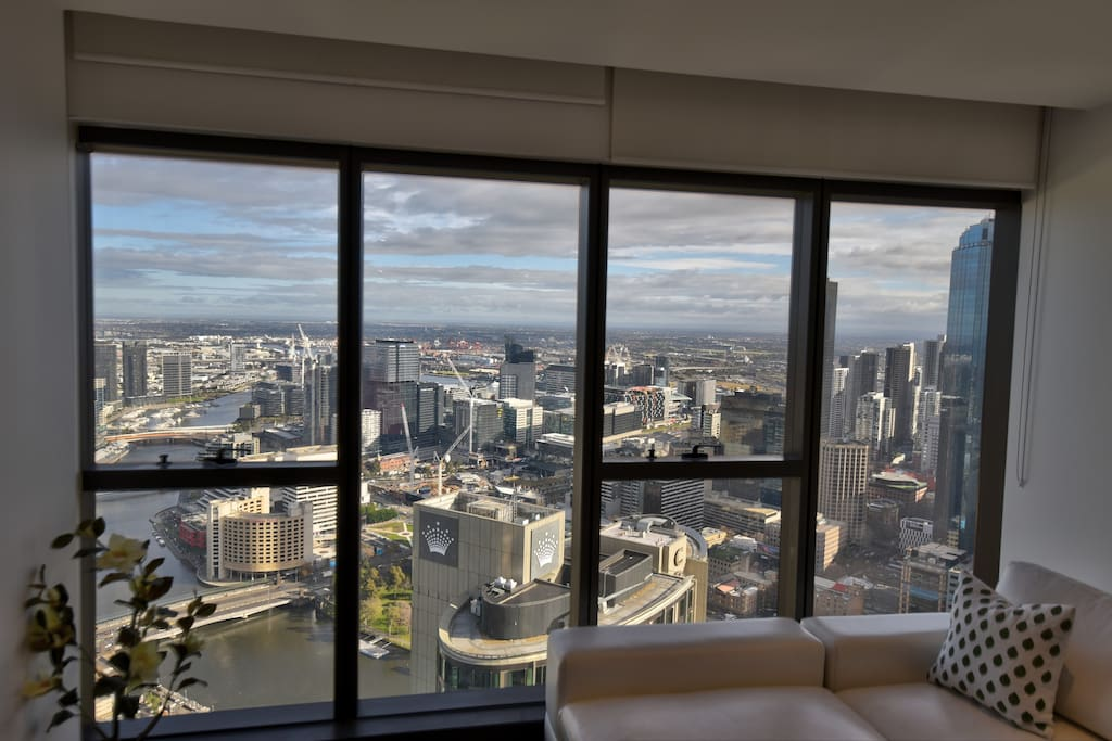 Main Lounge overlooking Casino and City. Foxtel Sports, Movies and Kids NBN