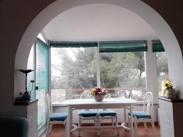 veranda panoramica, vista dal soggiorno