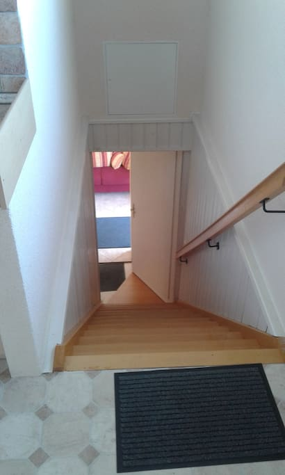 Treppenaufgang zur Gästewohnung