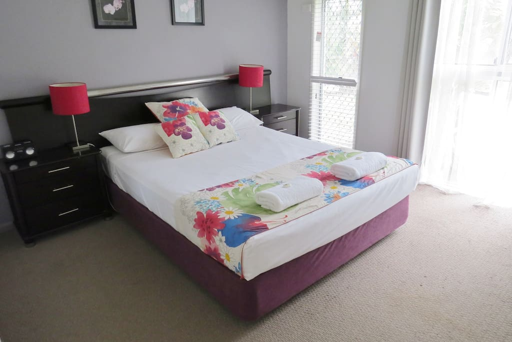 Bedroom one with Queen size bed