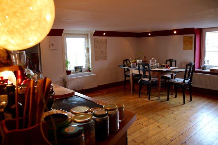 Gemütlich rustikale Wohnung in antikem Bauernhaus - Blomberg - Apartemen