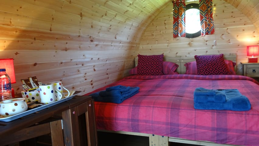 Camping Pod Room with a view.
