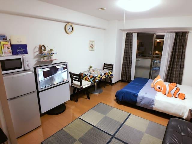 横浜中心地 Great location +wifi - 横浜市 - Lägenhet