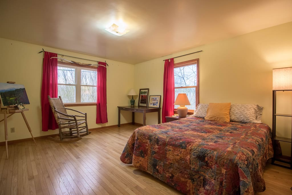 Primary guest room - floor mattress can be added to sleep up to 4