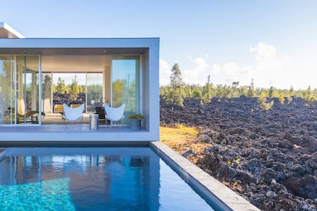 Lava Flow House Large Pool Ocean View Kehena Beach