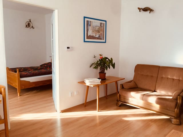 Děčín celý byt -  2 ložnice, kuchyň