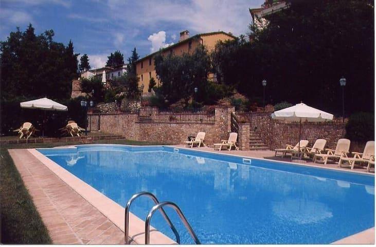 Borgo del Salvino, 2 camere P.Terra c/piscina