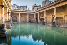 Roman Baths, Bath - 20 miles