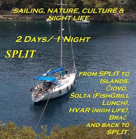 Sailing adventure 5 islands tour in Croatia-Split
