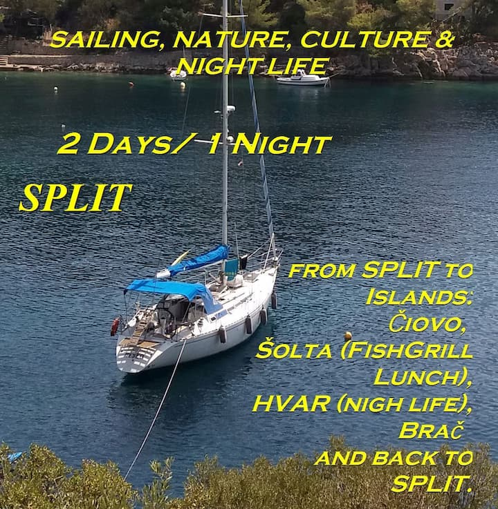 Sailing adventure 5 islands tour in Croatia-Split