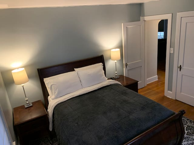 First floor Master bedroom, queen size euro top mattress