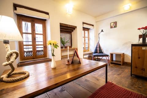Unidad de 2 habitaciones hermosa histórica Patan -1er piso