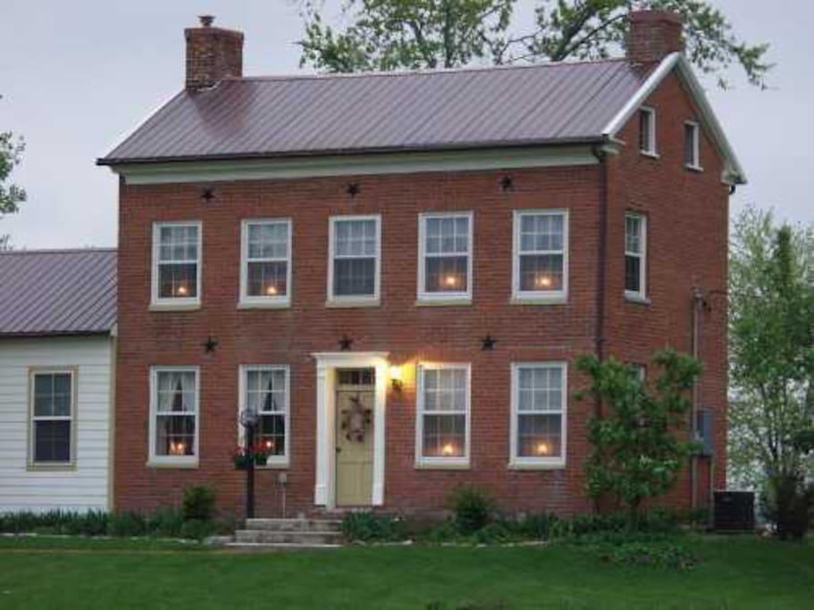 1840 39 s rufus abbott manor pioneer nauvoo home maisons louer nauvoo illinois tats unis. Black Bedroom Furniture Sets. Home Design Ideas