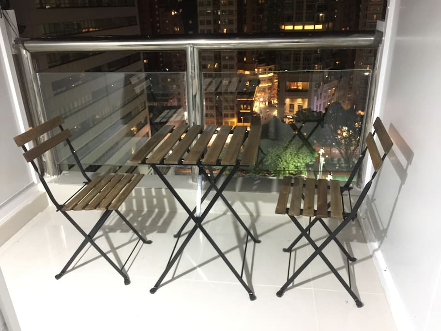 terrace chair and table