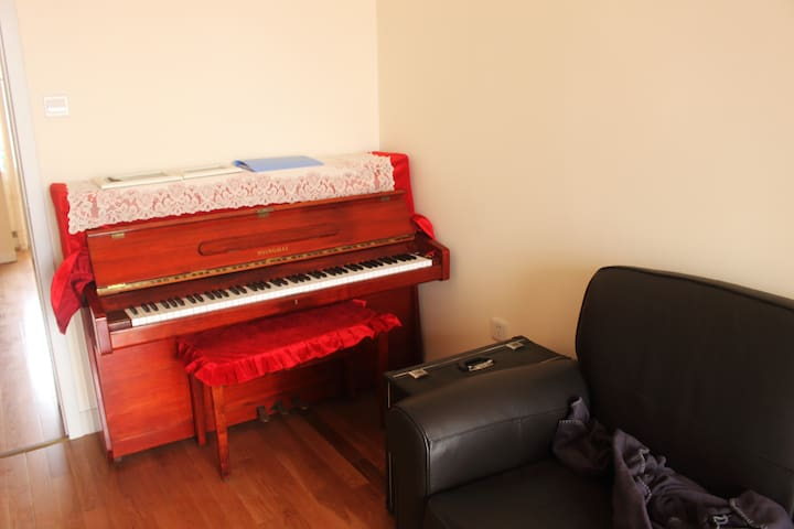 Cozy apartment with piano and feather sofa - Tianjin